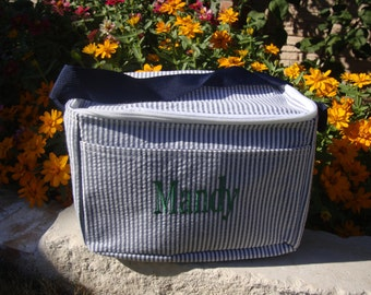 Insulated Lunch Tote Monogrammed with Name or Initials, Lunch Box, Lunch Bag, Cooler Bag,