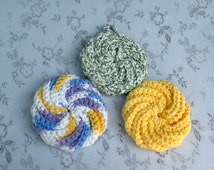 Shower Scrubbie, Crocheted, Assorted Colors, Back to School Item, College Accessory