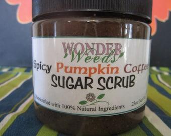 Spicy Pumpkin Coffee Sugar Scrub, ALL NATURAL INGREDIENTS, 8oz