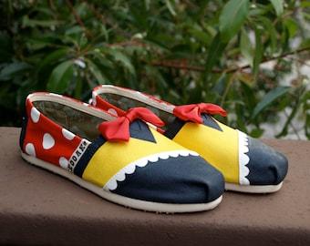 KOOAK Kustoms Disney Miss Minnie Inspired Toms Flats