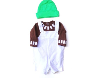 Oompa Loompa Baby Costume, Kids Willy Wonka Costume, Funny Baby Costume, Costume Children, Halloween Costume, gifts under 50