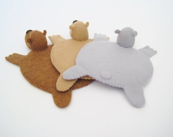 Bear Rug Coaster (Set of Three)