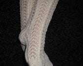 Digital Pattern: Child's Knit Lace Knee High Socks