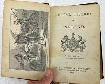 Antique School History of England A B Berard A S Barnes Company 1877 ATCTTEAM Paper Ephemera