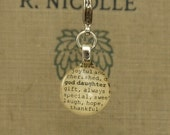 Goddaughter Dictionary Glass Gem Charm by Kristin Victoria Designs