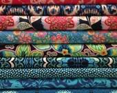 Lark - Amy Butler  11 Fat Quarters Quilt Fabric Bundle Blues