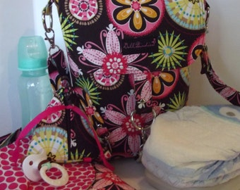 Dollbirdies Stroller Bag with Changing Pad and Paci Pod