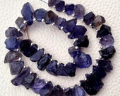 Brand New, Amazing NATURAL WATER SAPPHIRE Hammered Rock Tip Drilled Nuggets,10-12mm, 1/2 Strand,Amazing Rare Item
