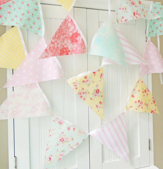 Shabby Chic Fabric Banner