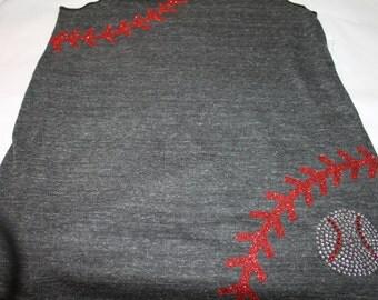 Baseball Tank, Baseball Seams shirt, Baseball Mom tank, Baseball Laces Tank, baseball bling shirt, Baseball tank, Softball Tank, Softball