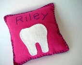 Tooth Fairy Pillow--Personalized--Any Color Felt