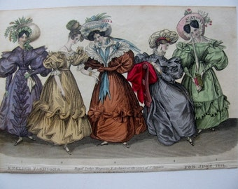 Original 1831 Fashion Plate