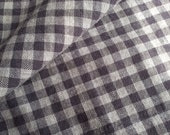1890 - 1900 Homespun Flannel Fabric-Gray Lavender White