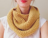 Juniper Infinity Scarf >> Ready to Ship >> Knit Infinity Scarf Wrap >> 100% American Wool