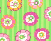 Floral in Pink and Lime from the Hubba Hubba Collection, by Moda, 1 yard