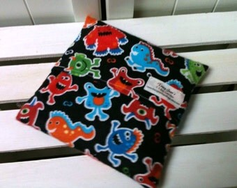 Kids Boo Boo packs/ Hot and Cold packs/ microwave or freezer packs in Monster Mash