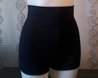 Grable High Waist Swim Shorts In Solid Colors
