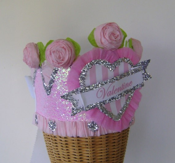 Valentines Day Hat, valentines day Crown,  adult or child, customize