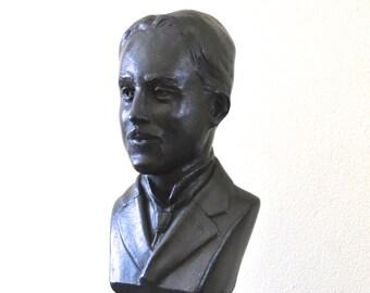 "Nikola Tesla Sculpture Bust 10.5"" Tall- F"