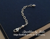 ADD ON - Jewelry Extender Chain - Two Inch Extender Chain Attached to a Lobster Clasp, Accented by Tiny Swarovski Pearl