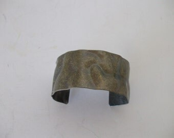 Hammered Antique Brass Metal Cuff Bracelet,  Laquered,  Gifts for her,  #3795