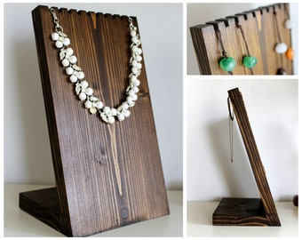 Wooden Necklace Display Board, Necklace Bust, Jewelry Stand, Craft Show, Retail Fixture, Jewelry Holder. Available in Many Sizes and Colors