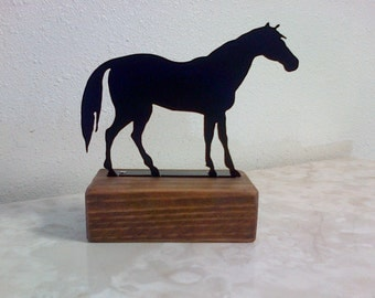 Horse Paperweight Shelf Decoration Reclaimed Wood.