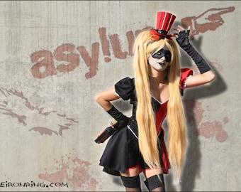 Steampunk Harley Quinn costume, victorian, burlesque