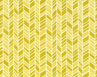 Organic Cotton Fabric - Cloud9 Fabrics House & Garden 2014 - Straw Hat Yellow
