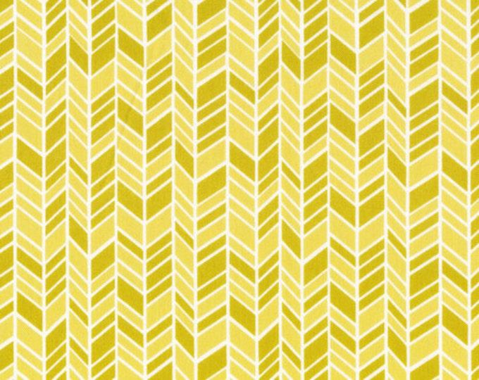 Organic Cotton Fabric - Cloud9 Fabrics House & Garden 2014 - Straw Hat Yellow