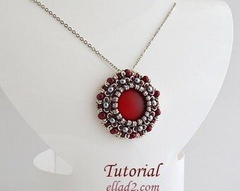 Tutorial Zoe Pendant - Beading Tutorial, Instant download, Jewelry Tutorials, PDF