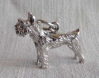 SCOTTISH TERRIER -SCOTTY Dog-  Sterling Silver Dog Charm or Pendant