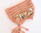 esmae's pixie hat in spring peach