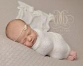 Off White Stretch Knit Wrap Newborn Photography Swaddle