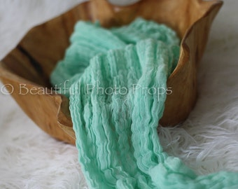 Mint Green Cheesecloth Baby Wrap Cheese Cloth Newborn Photography