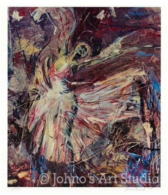 Ballerina art, Dancer  painting, Dancer Art , Limited Edition by Johno Prascak of Pittsburgh