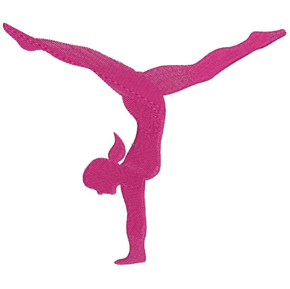 Gymnastics Embroidery Design Instant Download