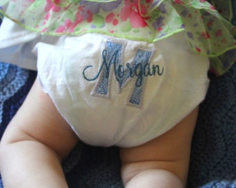 Personalized Baby Bloomers/ Diaper Cover