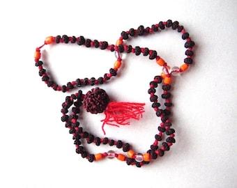 Rudraksha Mala Seed Bead Meditation Necklace