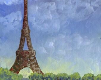 Eiffel Tower -  Acrylic Painting