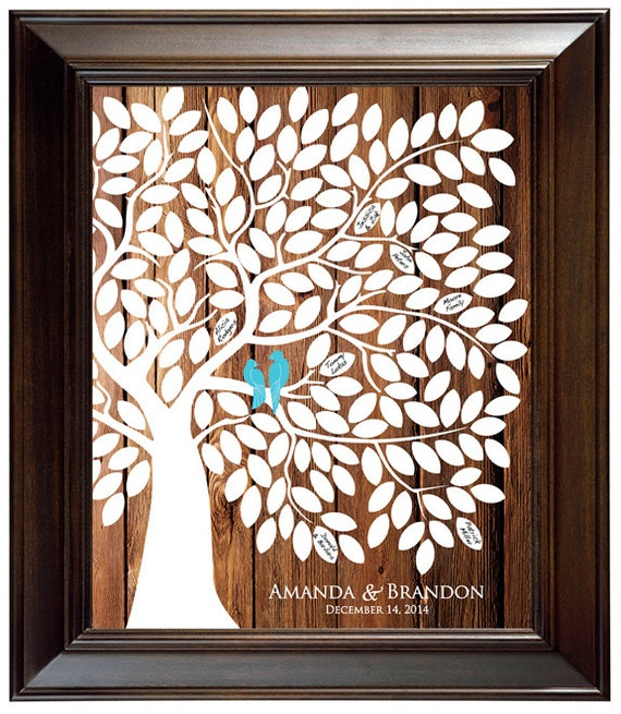 Tree Guestbook Wedding Tree Poster Rustic