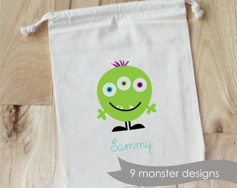 MONSTER PARTY -  Personalized Favor Bags - Set of 10 - Birthday