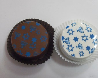 Designer HANUKKAH Chocolate Covered OREO Cookies