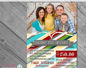INSTANT DOWNLOAD - Chalky Christmas Marketing Board 5- custom 5x7 photo template