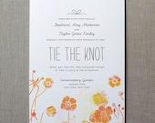 Wildflowers Watercolor Wedding Invitation