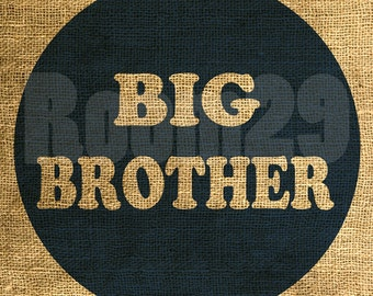 Instant Download - Big Brother in Dark Blue - Download and Print - Image Transfer - Digital Sheet by Room29 Sheet no. 565blue