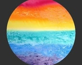Rainbow print, black or white background, landscape, print, gift giving, home decor, red, orange, yellow, green, blue, purple