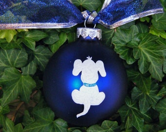 Dog Lover Ornament, Personalized Pet Ornament - Handpainted Ornament, Christmas Bauble, Pet Accessory for My Dog, Dog Memorial