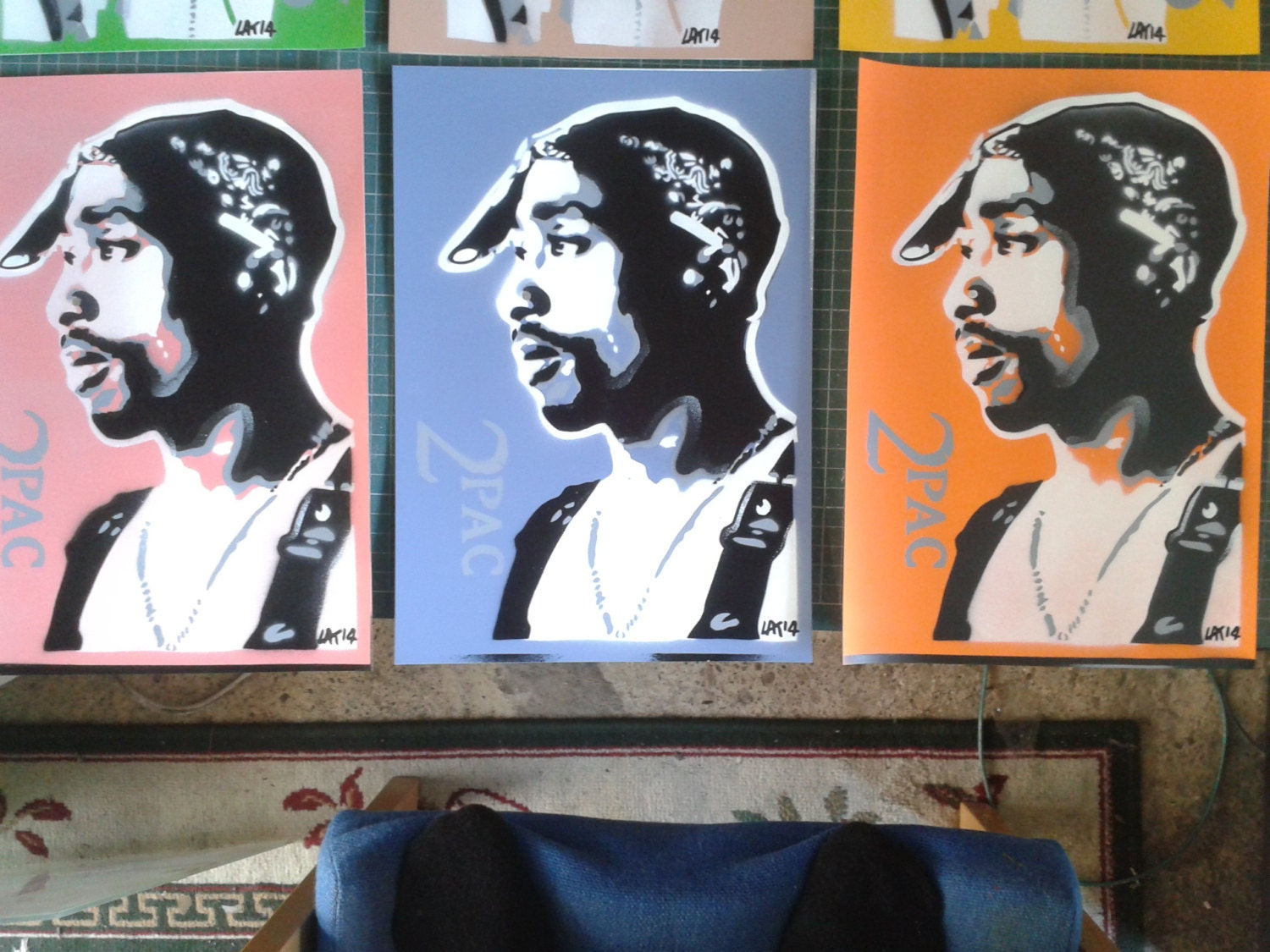 tupac stencil art paintings on card2pachip by