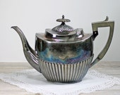 Antique Georgian Style Teapot Silver Plated Walker & Hall Sheffield England